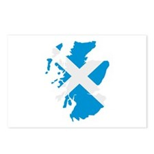 Scotland map flag Postcards (Package of 8)