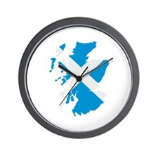 Scotland map flag Wall Clock