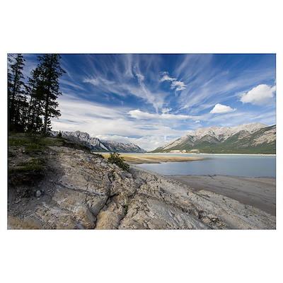 Abraham Lake on the North Saskatchewan River, Jasp Poster