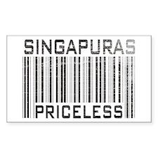 Singapuras Priceless Rectangle Decal