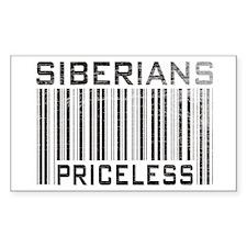 Siberians Priceless Rectangle Decal
