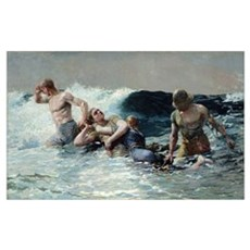 Undertow, 1886 (oil on canvas) Poster