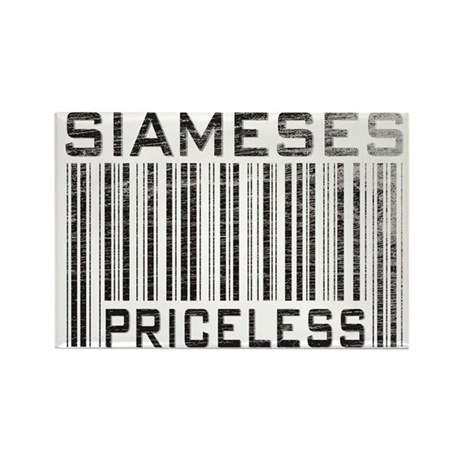 Siameses Priceless Rectangle Magnet