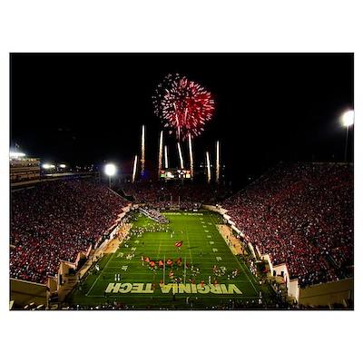 VT Photographs Lane Stadium Football Splendor Poster