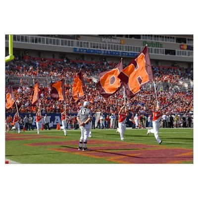 VT Pictures HOKIE Flags at the ACC Championship Framed Print