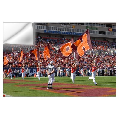 VT Pictures HOKIE Flags at the ACC Championship Wall Decal