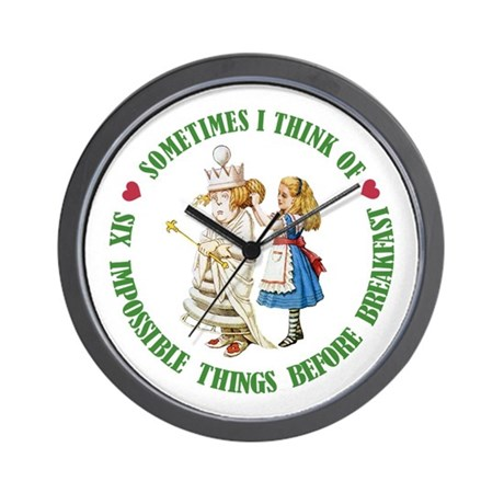 Six Impossible Things Before Breakfast Wall Clock