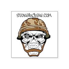 """SCG Skull Square Sticker 3"""" x 3"""""""