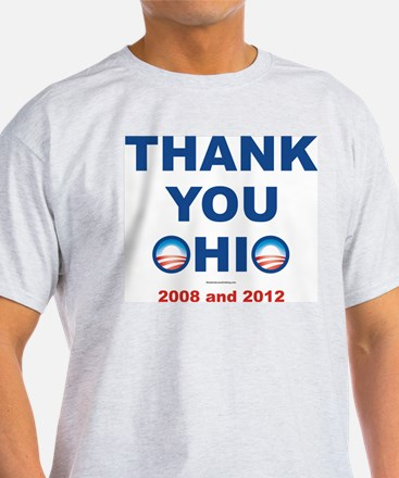 Thank You OHIO 2012 and 2008 - Pro Obama T-shirt