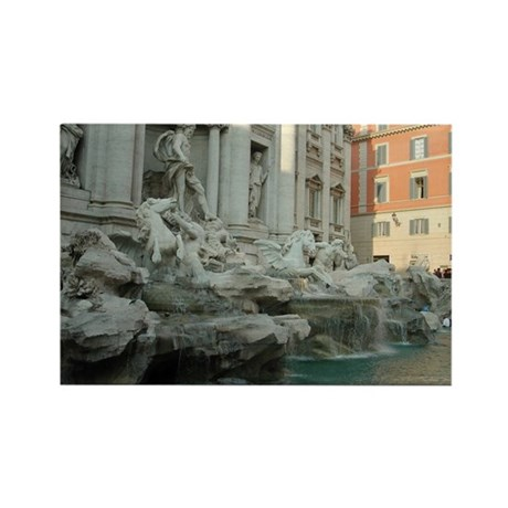 Trevi Fountain 1 Rectangle Magnet