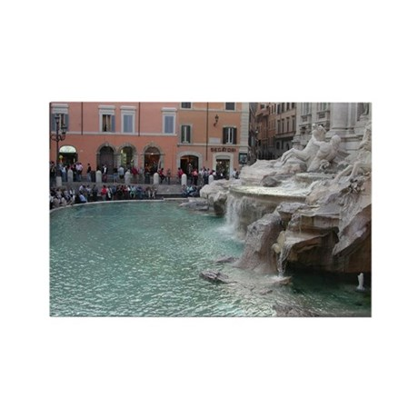 Trevi Fountain 2 Rectangle Magnet