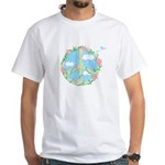 Peace & Flowers White T-Shirt