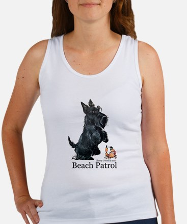 Scottish Terrier Beach Patrol Women's Tank Top