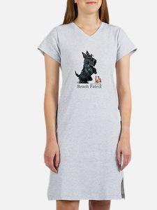 Scottish Terrier Beach Patrol Women's Nightshirt