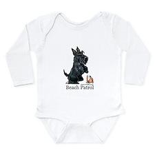 Scottish Terrier Beach Patrol Long Sleeve Infant B