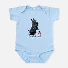 Scottish Terrier Beach Patrol Infant Bodysuit