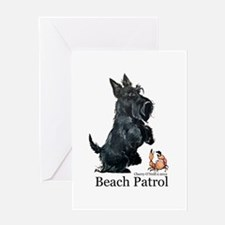 Scottish Terrier Beach Patrol Greeting Card