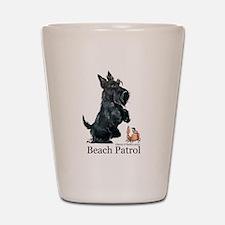 Scottish Terrier Beach Patrol Shot Glass