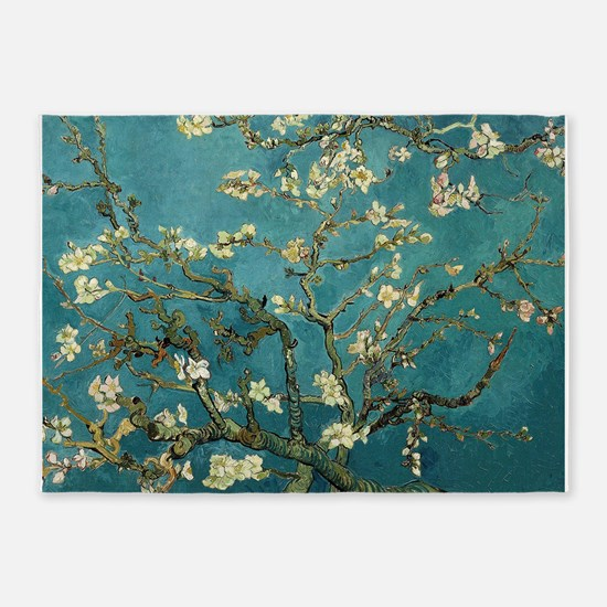 Van Gogh Almond Branches In Bloom 5'x7'Area Rug