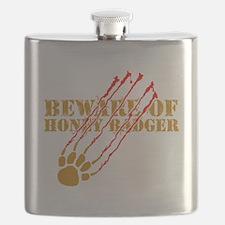 Beware of honey badger Flask