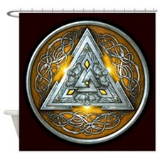 Norse Valknut - Yellow Shower Curtain