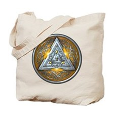 Norse Valknut - Yellow Tote Bag
