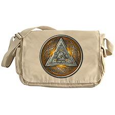 Norse Valknut - Yellow Messenger Bag