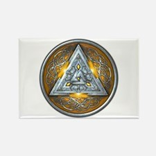 Norse Valknut - Yellow Rectangle Magnet