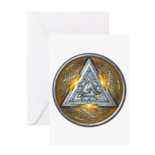 Norse Valknut - Yellow Greeting Card