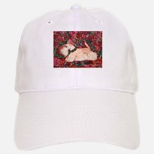 Wheaten Scottish Terrier on Red Baseball Baseball Cap