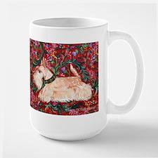 Wheaten Scottish Terrier on Red Mug
