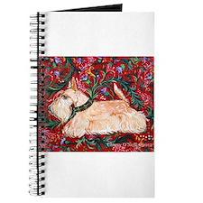 Wheaten Scottish Terrier on Red Journal