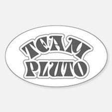 Team Pluto Oval Decal