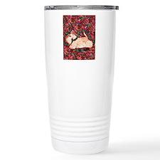 Wheaten Scottish Terrier on Red Travel Mug