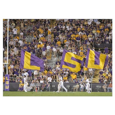 Louisana State University Pictures LSU Flags Fly o Poster