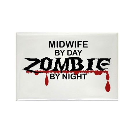 Midwife Zombie Rectangle Magnet