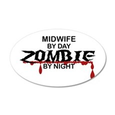 Midwife Zombie Wall Decal