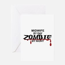 Midwife Zombie Greeting Card
