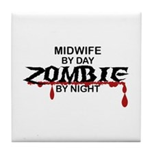 Midwife Zombie Tile Coaster
