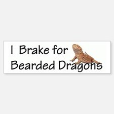 Brake for Bearded Dragons Bumper Bumper Bumper Sticker