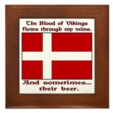 Danish Viking & Beer Framed Tile