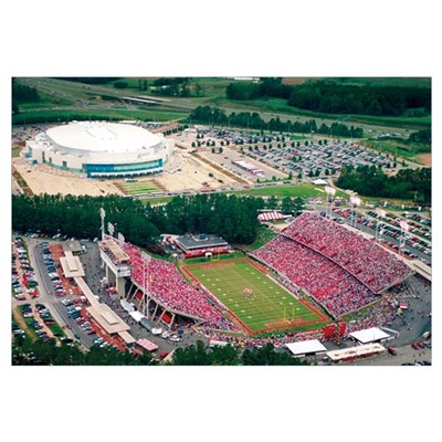 NC State University Photographs Aerial View of Car Canvas Art