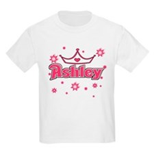 Ashley Princess Crown Star Kids T-Shirt