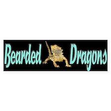 Bearded Dragon Bumper Sticker on black background