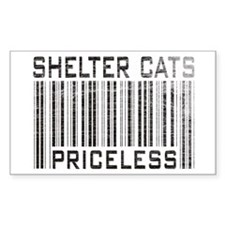 Shelter Cats Priceless Rectangle Decal