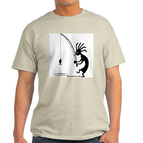 Kokopelli Fisherman Ash Grey T-Shirt