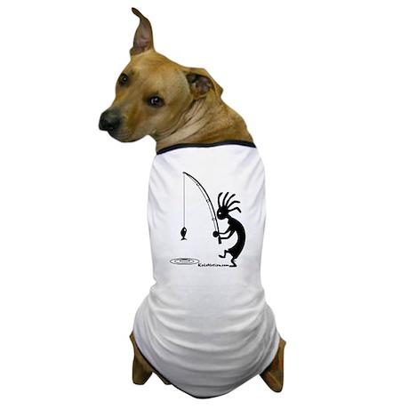 Kokopelli Fisherman Dog T-Shirt