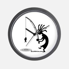Kokopelli Fisherman Wall Clock