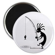 "Kokopelli Fisherman 2.25"" Magnet (10 pack)"