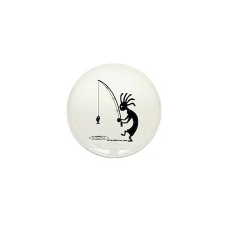 Kokopelli Fisherman Mini Button